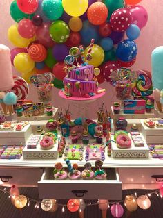 Candy Land Birthday Party Decoration 17 New Ideas Candy Theme Birthday Party, Candy Land Theme, Candy Party, Birthday Party Decorations, First Birthday Parties, First Birthdays, Birthday Ideas, Parties Decorations, Geek Birthday