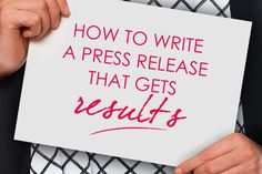 Learn what makes a good press release - how to develop your story, write a powerful headline and introduction, and avoid making common expensive mistakes.