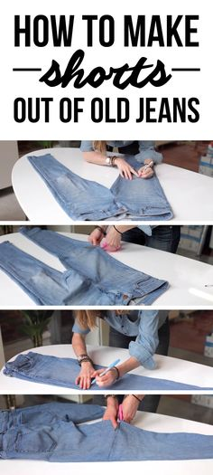 Sunday project - make shorts out of old jeans