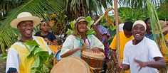 <p>Garifuna drummers as part of Garifuna Settlement Day in Dangriga, Stann Creek, Belize.