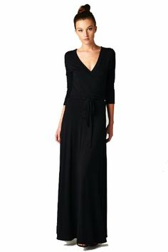 On Trend Paris Solid Long Maxi Dress Chevron 3/4 Sleeve (Large, Black) On Trend,http://www.amazon.com/dp/B00G0G379E/ref=cm_sw_r_pi_dp_nrfDsb0V6MZCK6FY