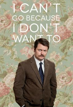 Sometimes you just need to take the Ron Swanson approach.. Haha Lol, Haha Funny, Hilarious, Make Me Smile, I Love To Laugh, Parks And Recreation, Life Motto, Entertaining, Decir No
