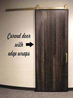 Curved Door With Goldberg Brothers Track And Hardware!