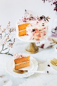 cherry blossom cake | hummingbird high || a desserts and baking blog