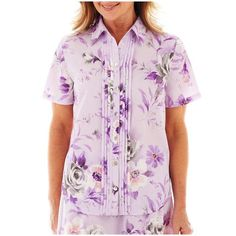 9c8860b23 Women's Blouses, Blouses For Women, Provence, Lilac, Women's Tops, Alfred  Dunner, Size 16, Floral Prints, Button Down Shirt