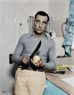 buster keaton in color | Buster Keaton | Colorization... | By: P i d i | Flickr - Photo Sharing ...