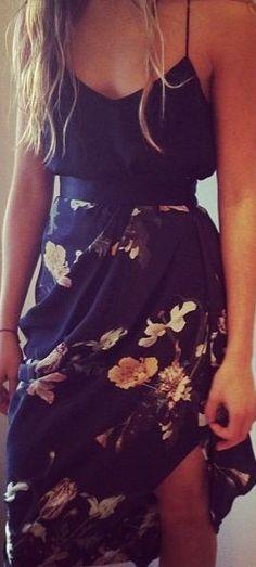 #summer #fashion / black floral print
