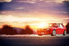 Starring: Lancia Delta Integrale (via by Konstantinos Sidiras) Cool Car Pictures, Car Pics, Hatchback Cars, Lancia Delta, Italian Beauty, Rally Car, Fast Cars, Cars And Motorcycles, Cool Cars