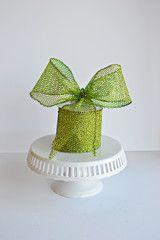 Green Glitter Mesh Ribbon
