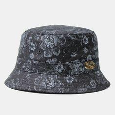 10deep Thompson Fisherman Hat - Black Floral Brocade