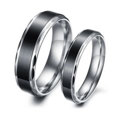 Titanium Stainless Steel Black Vintage Love Couple Wedding Bands Mens Ladies Ring for Engagement, Promise, Eternity for only $8.99