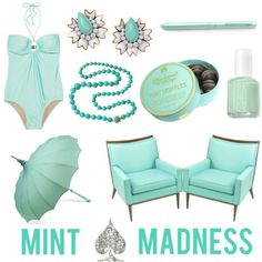 I've got the mint madness. In the past month I've bought mint nail polish, a mint dress with gold foiling, mint pleated skirt, and mint tshirt!