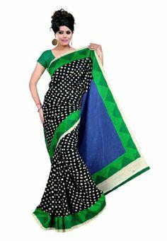Fabdeal Indian Designer Raw Silk Black Printed Saree Fabdeal, http://www.amazon.de/dp/B00INWQP4C/ref=cm_sw_r_pi_dp_gE8otb19PYD4V