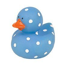Blue Polka Dot Rubber Duck