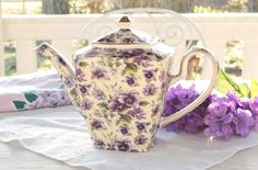 Hey, I found this really awesome Etsy listing at https://www.etsy.com/listing/266478962/arthur-wood-violet-chintz-tea-pot-rare