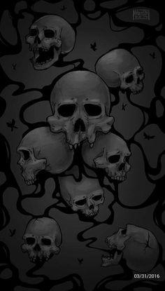 Gothic Wallpaper, Skull Wallpaper, Wallpaper Backgrounds, Que Horror, Pink Skull, Cool Wallpapers For Phones, Band Logos, Dope Art, Grim Reaper