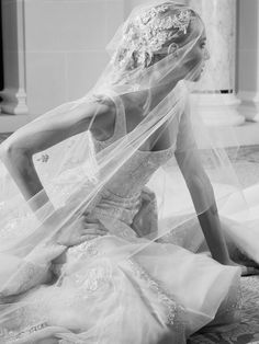 The new Elie Saab wedding dresses have arrived! Take a look at what the latest Elie Saab bridal collection has in store for newly engaged brides. Wedding Dressses, Bridal Wedding Dresses, Bridal Style, Blue Wedding, Elie Saab Bridal, Elie Saab Fall, Vogue, Bridal Fashion Week, Zuhair Murad