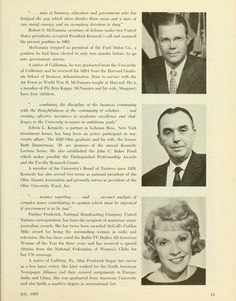 The Ohio Alumnus, July The uppermost image on the page is of Robert McNamara, who visited OU when he was awarded an honorary degree Robert Mcnamara, Commercial Photography, Athens, The Borrowers, Ohio, The Past, Archive, University, Celebrities