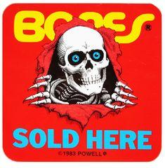 23205e76637 Bones Sold Here Old School Skateboards