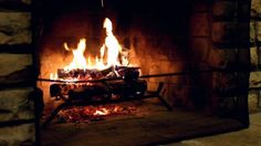Wood Fire In A Fireplace Inside A House Stock Footage Video ...