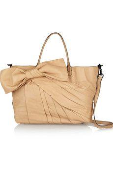 Valentino Bow-embellished leather shoulder bag | THE OUTNET