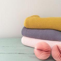 Couverture en tricot de coton - Le Repère des Belettes