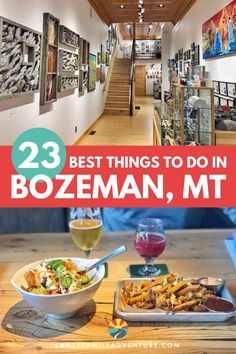 Bozeman, Montana is a beautiful city surrounded by the Rocky Mountains! From rock climbing to museums, great restaurants and shopping there are a lot of great things to do in Bozeman MT! Family Road Trips, Road Trip Usa, Family Camping, Travel With Kids, Family Travel, Great Restaurants, Restaurants In Bozeman Mt, Scenic Photography, Night Photography