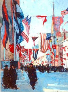 Historic American Artist, Jane Peterson, Flag Day