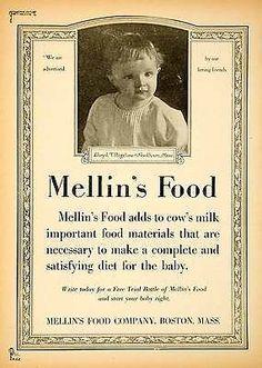 1919 Ad Mellin's Food Lloyd Bigelow Needham Baby Formula Infant Art Nouveau Boy