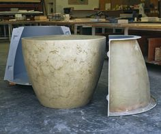 Cone table fresh out of the mold - Buddy Rhodes Studio