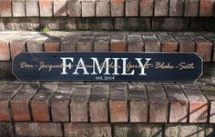 What a great gift for a blended family! 3ft Personalized Sign with Paper Overlay #woodsign #family #weddinggift #signsbyandrea http://signsbyandrea.com/signs/3ft-personalized-sign