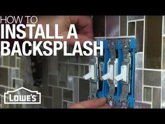 Add life to your kitchen with a tile backsplash. There are many options, including mosaics on mesh backing for easy installation. We'll show you how.
