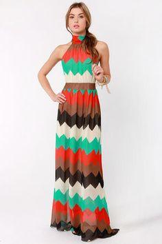 Chevron maxi love...maybe I can crochet myself something like this...