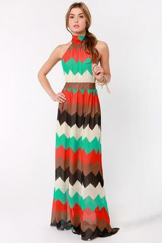 Chevron maxi love...maybe I can crochet myself something like this...