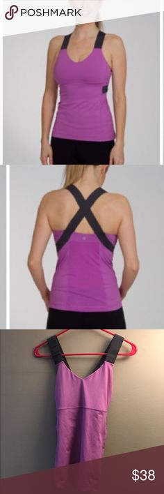 Lululemon Push ur limits Tank GUC made with Luxtreme for maximum moisture-wicking and anti-stink capabilities built-in shelf bra  the thick racerback straps are supportive and allow for complete freedom of movement just say no to chafing with flat seams. Color might vary from modeled photo. lululemon athletica Tops Tank Tops