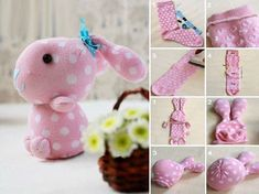 """smarylove: """" (via How to make cute sock bunny crafts step by step DIY tutorial instructions Kids Crafts, Sock Crafts, Bunny Crafts, Cute Crafts, Easter Crafts, Crafts To Make, Sewing Crafts, Sewing Projects, Craft Projects"""