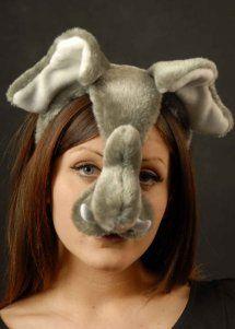 Elephant Mask On Headband