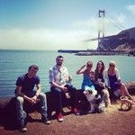 Fogheads enjoying the Acoustic Sunrise by the Golden Gate Bridge.
