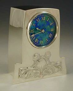Liberty & Co. Arts & Crafts Cymric Silver & Enamel Clock