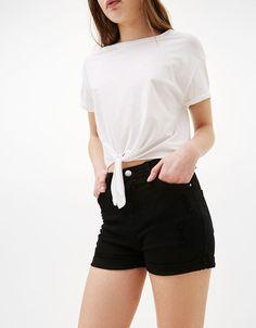 Short taille haute - Shorts - Bershka France