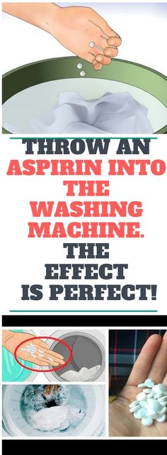 Throw An Aspirin Into The Washing Machine! The Reason Will Leave You Speechless! Once you find out why throwing an aspirin into your washing machine is recommended, you will be amazed. Diy Cleaning Products, Cleaning Solutions, Cleaning Hacks, Cleaning Recipes, Weekly Cleaning, Laundry Solutions, Cleaning Schedules, Diy Products, Cleaning Checklist