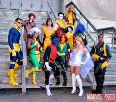 X-Men cosplay group from DragonCon last year, photo by Judy Stephens Male Cosplay, Cosplay Outfits, Best Cosplay, Cosplay Costumes, Cosplay Diy, Awesome Cosplay, Family Halloween Costumes, Movie Costumes, Cool Costumes