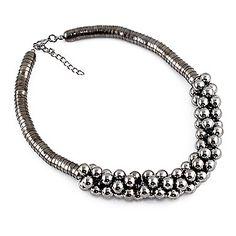 Широкий черного шарика ожерелье – RUB p. 230,34