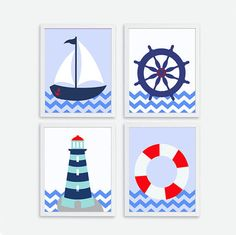 free nautical nursery printables - Google Search