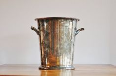 Silver on Copper Champagne Bucket 1920s by CobblestonesVintage