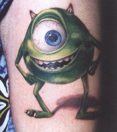 Monsters Inc tattoo | Fuente: http://tatuajes-tatoo.net/2012/10/tatuaje-de-monsters-inc.html