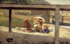 The Athenaeum - In Charge of Baby (Winslow Homer - )