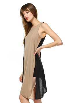 7a7060ac82e7d Carrie Allen s Asymmetrical Low hemline Dress. Perfect for party and casual  work Asymmetrical Tops