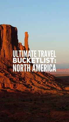 The final geographical instalment of the bucket lists! Here's your ultimate USA and Canada travel inspiration... UTB North America!