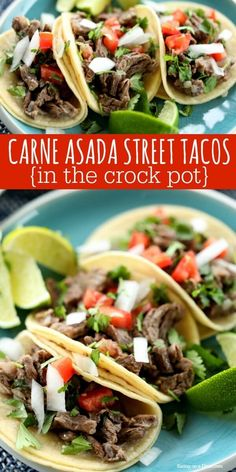 Crock Pot Street Tacos Recipe will be a hit with your entire family. Learn how to make Street Tacos for a quick meal. Try Mexican street tacos recipe. Crock Pot Recipes, Cooker Recipes, Beef Recipes, Healthy Recipes, Carne Asada Recipes Easy, Carne Picada Recipes, Healthy Crock Pot Meals, Yummy Recipes, Cheap Recipes
